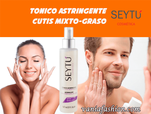 Tonico Astringente para Cutis Mixto-Graso-SEYTU-PRECIOS